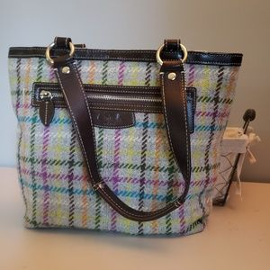 Coach colorful wool purse